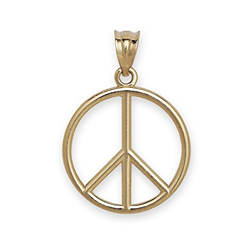 JewelryWeb 14 Carats Pendentif Peace