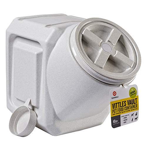 (Vittles Vault Outback Stackable 40 lb Airtight Pet Food Storage Container (Renewed))