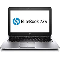 HP EliteBook 725 G2 12.5 Touchscreen Laptop: Quad-core AMD A10-7350B | 4 GB | 180 GB SSD | AMD Radeon R6 | Windows 10 Pro | Webcam | FingerPrint Reader | Backlit Keyboard