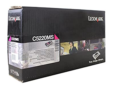 Lexmark - C5220ms Toner 3000 Page-Yield Magenta Product Category: Imaging Supplies And Accessories/Copier Fax & Laser Printer Supplies by Lexmark