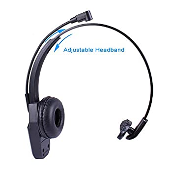 Arama JBT800 Bluetooth Headset with Microphone & Bluetooth 5.0, Office Wireless Headset, Over The Head Earpiece for Cell Phone, Skype, Truck Driver, Call Center, Office