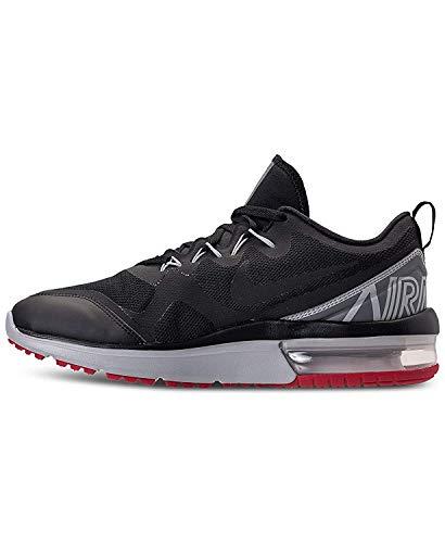 daee5c025c490 SHOPUS | Nike Mens Air Max Fury Low Top Lace Up Running, Black/Black ...