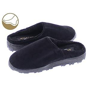 Gold Toe Boy's Clyde Corduroy Fleece Lined Memory Foam Indoor/Outdoor House Slipper, Slip On Clog Shoes