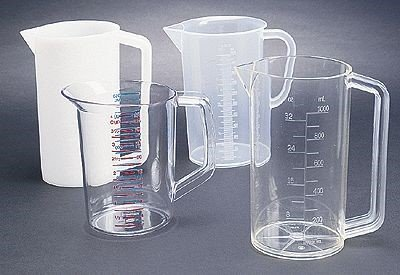 Polycarbonate Graduated Beaker with Handle, 1000 mL ()