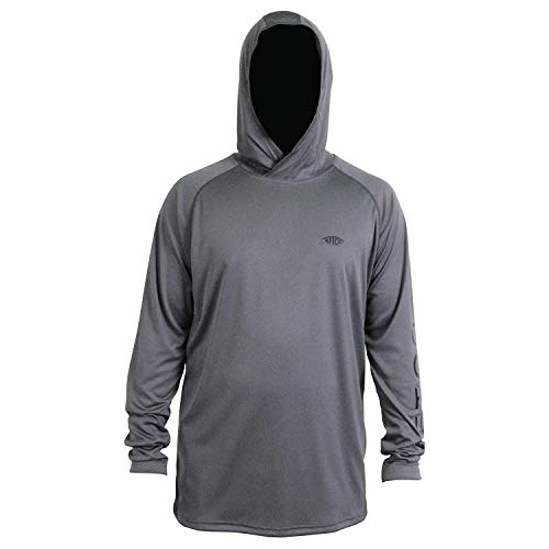 AFTCO Samurai Hooded Performance Long Sleeve Shirt - Charcoal - 2XL