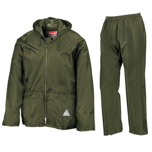 Result Mens Heavyweight Waterproof Rain Suit (Jacket & Trouser Suit) (M) - Check Rain Jacket Lightweight