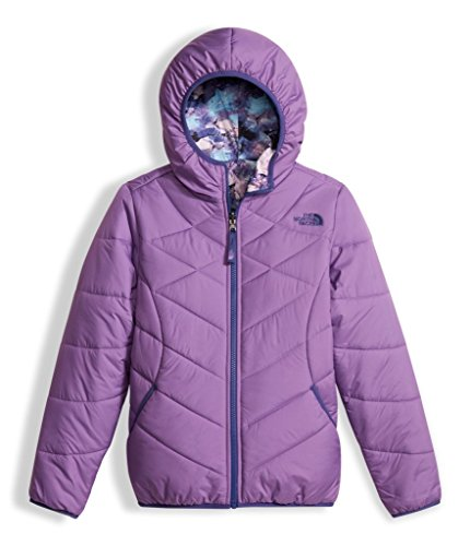 The North Face Girls Reversible Perrito Jacket - Bellflower Purple - XS by The North Face (Image #1)