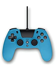 Gioteck - VX4 Blauw Bedrade Controller voor PS4 en PC Gamepad, Joystick Motion en Vibration Support Ergonomisch design & Oplaadbaar batterij