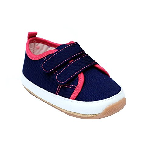 Kuner Baby Boys and Girls Cotton Rubber Sloe Outdoor Sneaker First Walking Shoes (12.5cm(6-12months), Blue)