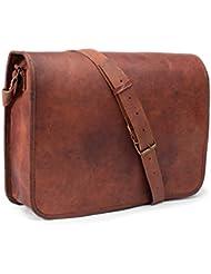 LUST Leather Messenger Bag for Men Leather Laptop Bag Shoulder Bag