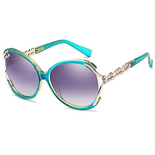 HOHAUSA Retro Fashion Oversized UV400 Sunglasses for Women UV Protection (Green - Uv Test Protection Sunglasses