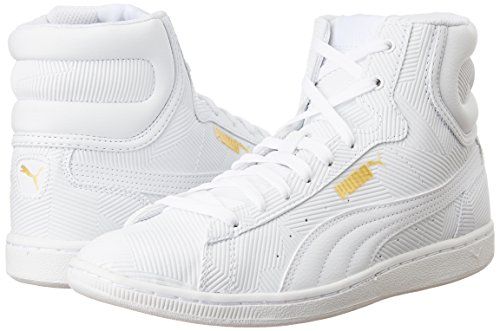 Sneakers Bianco Puma Mid Vikky Donna Pelle Deboss pHq4PXw