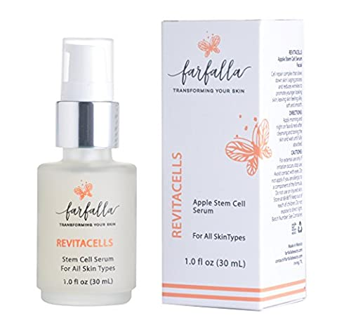Revitacells Apple Stem Cells Nourishing Anti Wrinkle, Anti Aging Serum for Face & Neck. Repairs & slows down skin´s aging process & reduces wrinkles. Skincare boost for youthful, healthy, glowing (Beauty Renew Illuminating)