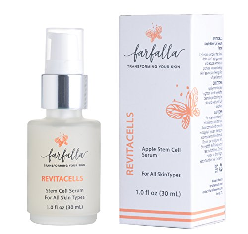 Revitacells Apple Stem Cells Anti Wrinkle, Anti Aging Serum for Face & Neck. Repair complex that slows down skin´s aging process & reduces wrinkles. Skincare boost for youthful, healthy, glowing skin