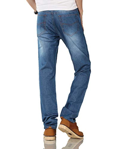 Allentati Di Abbigliamento Diritto Casuali Del Uomini 806 Bicchierino Cashmere Taglio Jeans R Serie Dei Modo Blau Pantaloni Degli FBWqdX4Pq