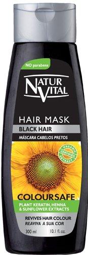 Natur Vital color-safe hair mask black