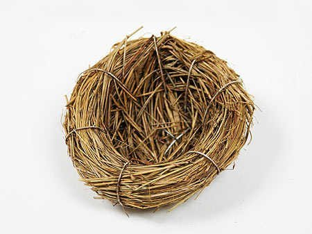 Miniature Natural Bird Nests 3 in diam approximately- 12 per package by Inspired by (Miniature Natural Bird Nests)