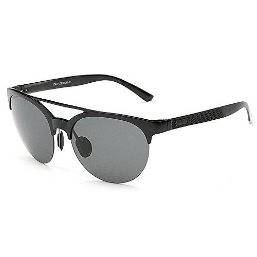 conduite nouveauté protection nuances brill cadre designer de la des polarisées soleil chat de en cadeau Lunettes de UV et lunettes voyage haute magnésium yeux aluminium qualité pères de Noir soleil fête HEUdqqnw