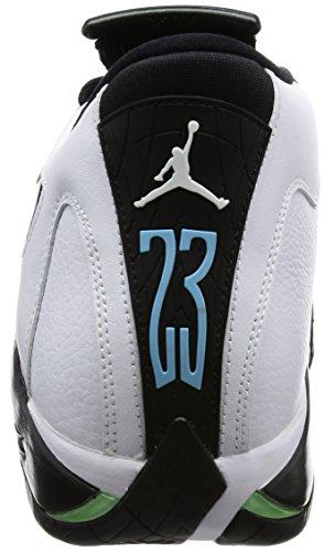 Nike Air Jordan 14 Retro, Scarpe da Basket Uomo Bianco