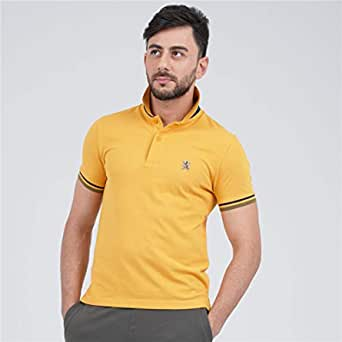 Giordano Polo T-Shirt for Men, Size XL, Lemon