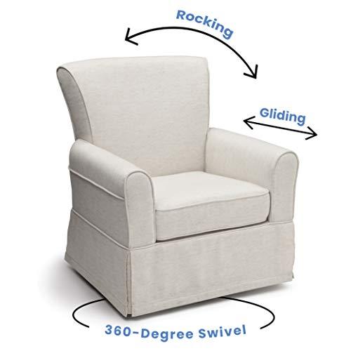 412RGT5hCeL - Delta Children Upholstered Glider Swivel Rocker Chair, Sand