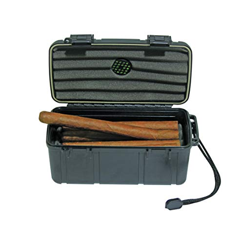 Sigara Complete Protection Rugged Waterproof Cigar Travel Case (10-15ct Cigars)