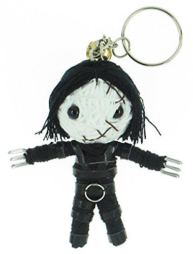 Edward Scissorhands Voodoo String Doll Keyring Keychain Red -