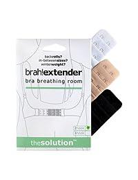 Brah! Extender: Bra Extender Band Breathing Room- Pack of 3 (White, Beige, Black)