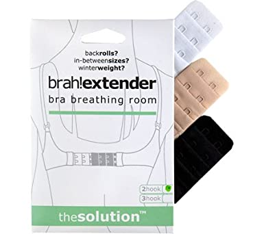 Brah! Extender: Bra Extender Band Breathing Room- Pack of 3 (White, Beige, Black) Fashion First Aid Accessories BX02