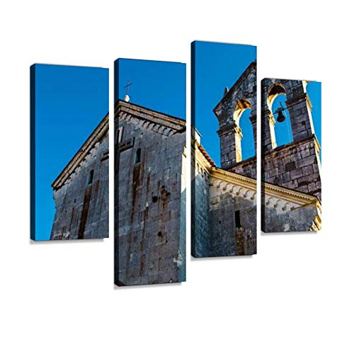 Church of Saint Francis in Pula, Croatia Canvas Wall Art Hanging Paintings Modern Artwork Abstract Picture Prints Home Decoration Gift Unique Designed Framed 4 Panel