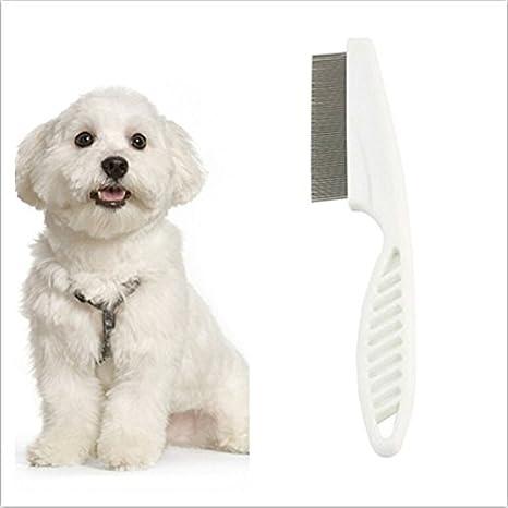 ULTNICE 1 Pieza Durable para mascotas perro gato pulgas peine cepillo pulgas (Color aleatorio)