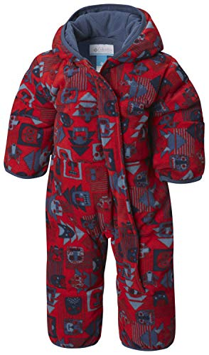 - Columbia Unisex Baby Snuggly Bunny Insulated Water-Resistant Bunting, Red Spark Critters/Dark Mountain, 3-6 Months