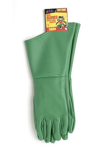 Rubie's Costume Co Men's Teen Titans Robin Adult Gloves, Green, One Size