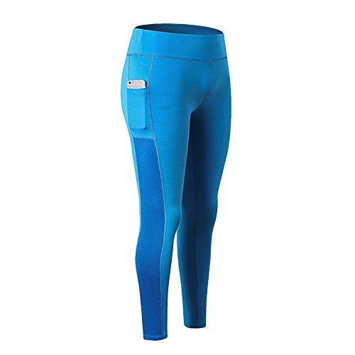 Leggings de sport de taille haute de dames - pantalons maigres élastiques Pantalon de sport de taille haute Hitueu Super pour la forme physique, le jogging, le yoga etc.
