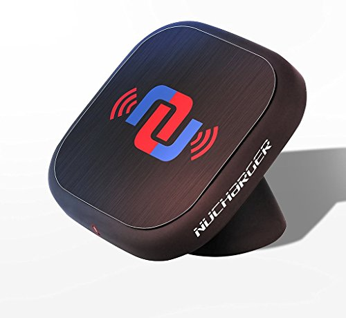 2-in-1 Multifunctional Adjustable Cellphone Holder + Wireless Charger Nucharger Snap200 360° Rotatable Qi Car Charger for All QI-Enabled Devices, with Nanometer Suction Technology