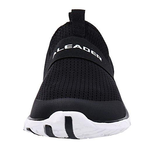 458cf8512b5f ALEADER Men s Quick-Dry Aqua Water Shoes Black White 12 D(M) US ...