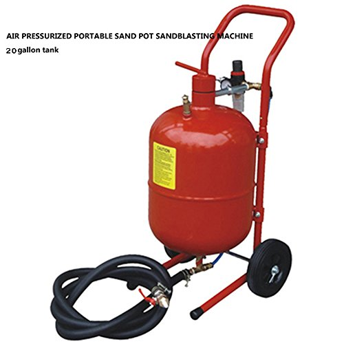 Techtongda 20 Gallon Gallon Sandblaster Abrasive Media Tank Remove Paint Rust Sandblaster (Item # 020888)