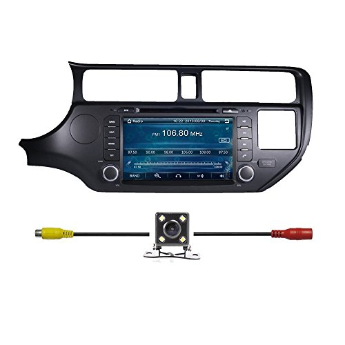"8"" Touchscreen Monitor Car GPS Navigation System for KIA RIO 2012 2013 2014 2015 Car Stereo DVD Player +Free Backup Rear View Camera+Free US Map"