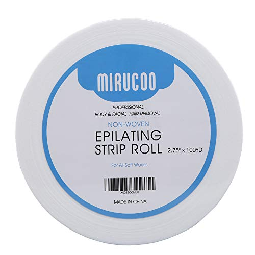 (Mirucoo Non-woven Wax Strip Roll for Body and Facial Hair Removal, 2.75