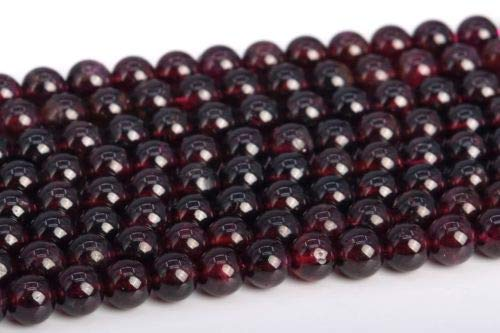 Genuine Mozambique Garnet Earrings - 5-6mm Genuine Natural Purple Red Garnet Mozambique Round Loose Beads 15.5'' Crafting Key Chain Bracelet Necklace Jewelry Accessories Pendants