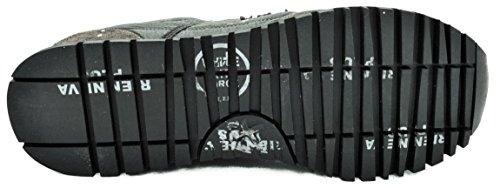 PREMIATA Sean - Zapatillas de Piel Para Hombre Verde Militare