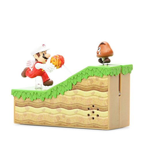 Maruka New Super Mario Bros.U Mario Fire and Goomba Action Sound Figure