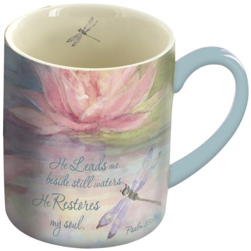 LANG Water Lily Mug, 14-Ounce