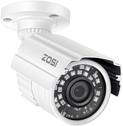 ZOSI 2MP HD 1920TVL Indoor Outdoor Security Camera 1080p Hybrid 4-in-1 HD-CVI TVI AHD 960H Analog CVBS ,24PCS LEDs,65ft IR Night Vision, Weatherproof Surveillance CCTV Bullet Camera
