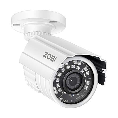 ZOSI 2MP HD 1920TVL Indoor/Outdoor Security Camera 1080p(Hybrid 4-in-1 HD-CVI/TVI/AHD/960H Analog CVBS),24PCS LEDs,65ft IR Night Vision, Weatherproof Surveillance CCTV Bullet Camera in USA