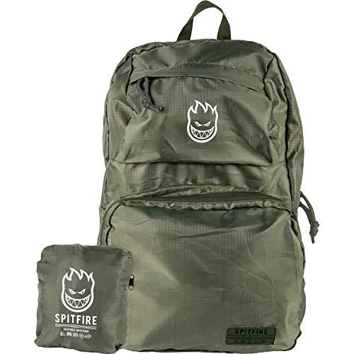 (Spitfire Wheels Burn Division Military Green/White Backpack)
