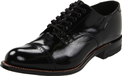 Stacy Adams Men's Madison Cap Toe Oxford,Black,9 D