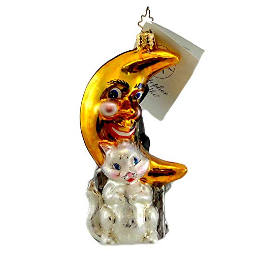 Christopher Radko LONELY LOVESONGS Blown Glass Ornament Halloween Cat ()