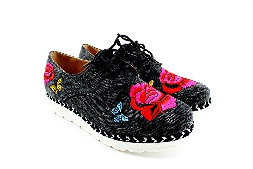 Modelisa - Zapatillas Parche Mujer NEGRO