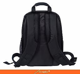 Camera Backpack DSLR SLR Camera Bag Video Padded Backpack Waterproof for Nikon,Canon, Sony, Olympus, Samsung, Panasonic, Pentax Cameras (Red) 13.3\